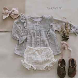 Jamie Kay Grey Ava Blouse 2T